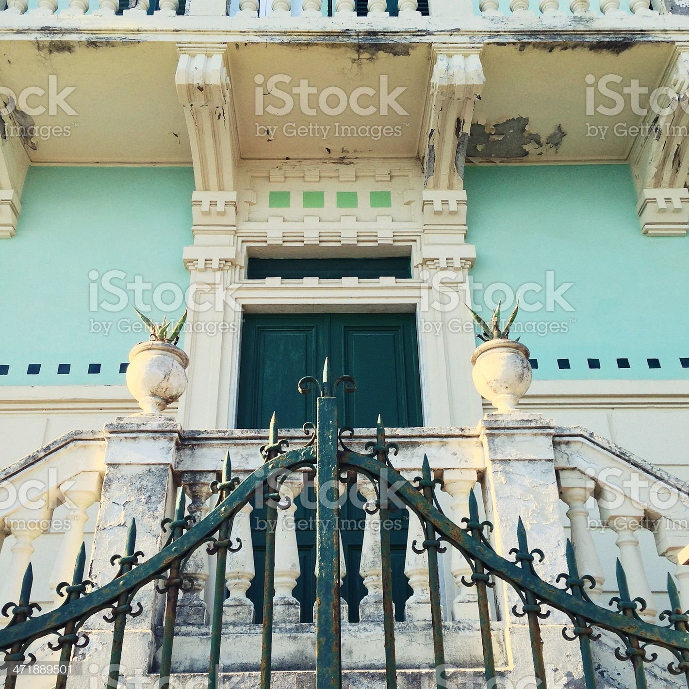 House entrance and large gate royalty-free stock photo