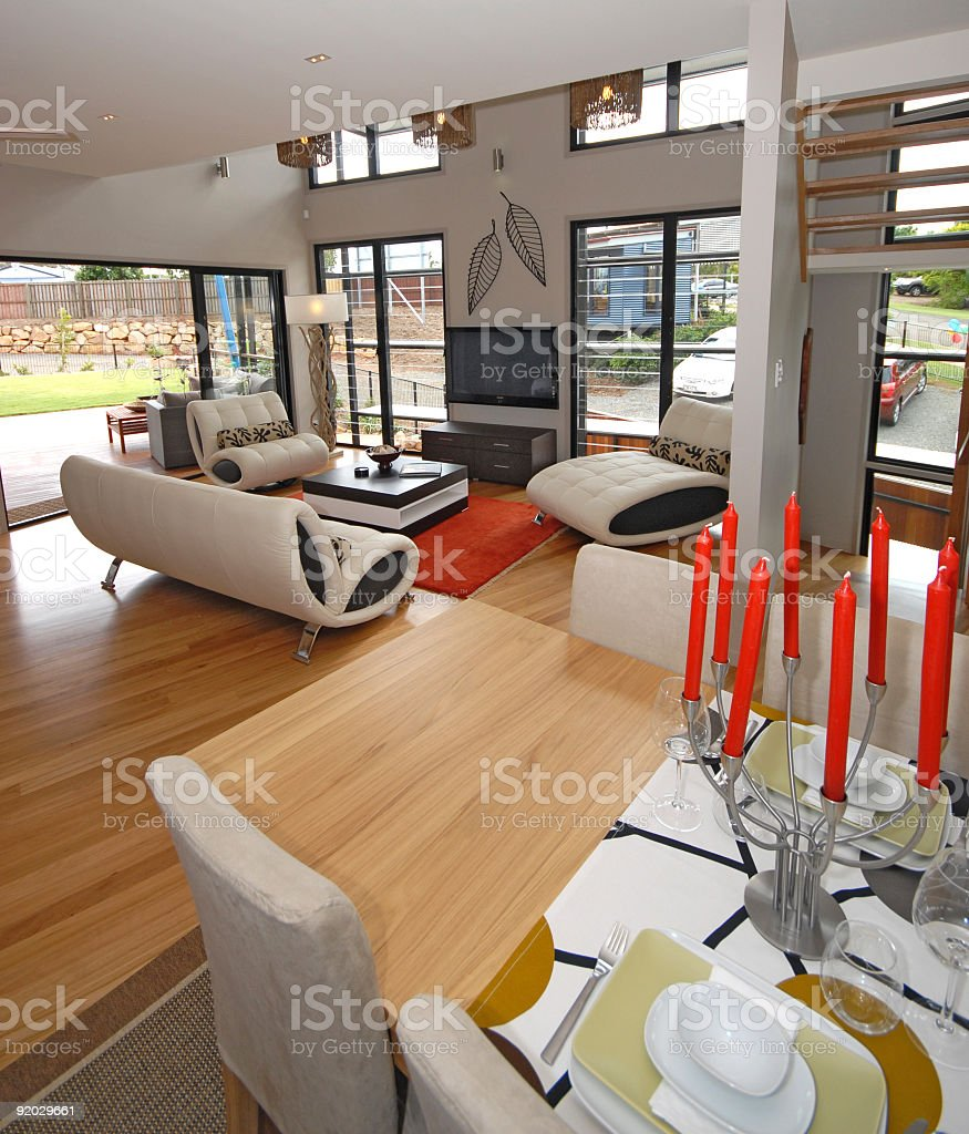 ECO House Environmental Home Village Brisbane royalty-free stock photo