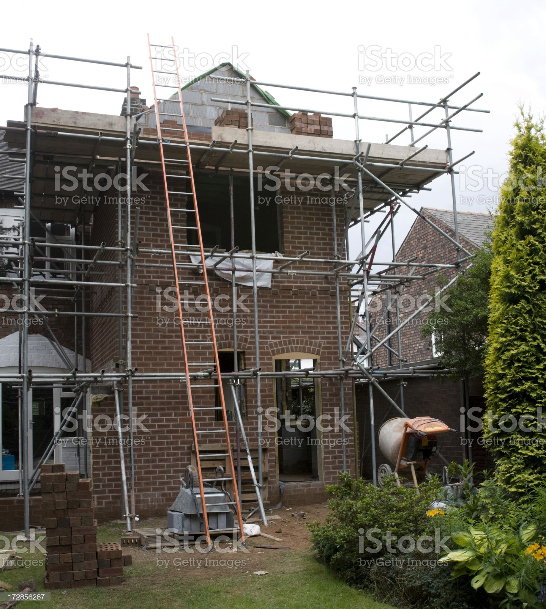 House Extension royalty-free stock photo