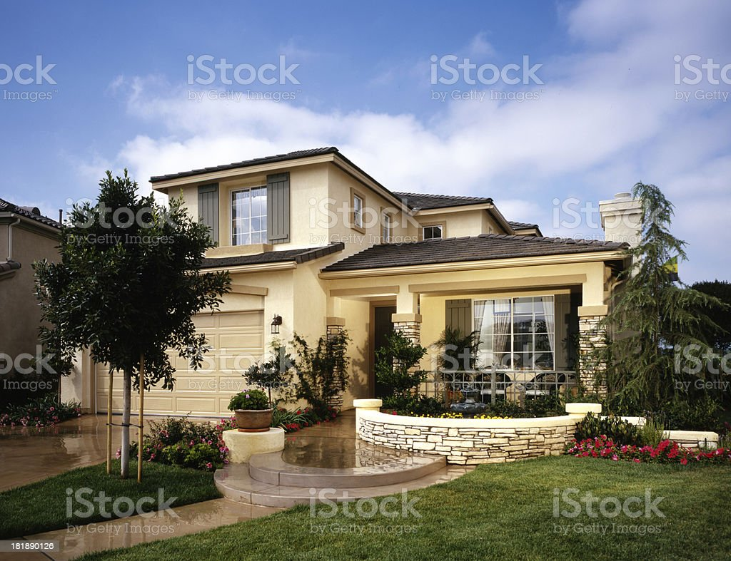 House Exterior Home Design stock photo