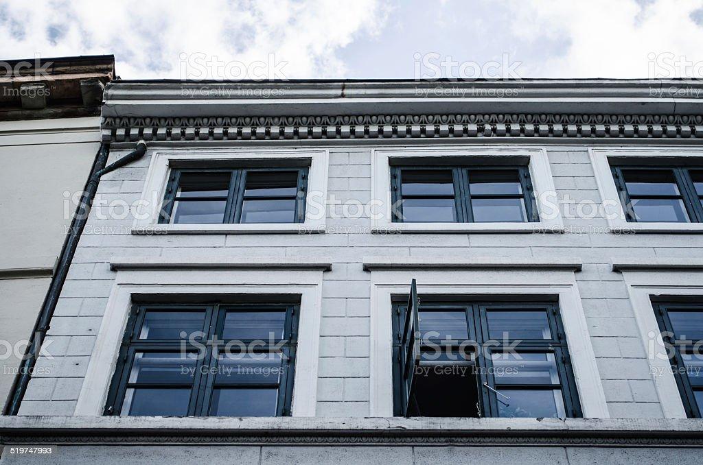 House facade in Copenhagen stock photo
