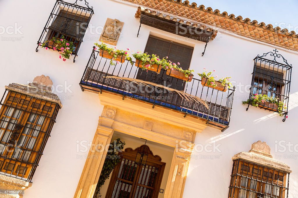 House facade in Spain royalty-free stock photo