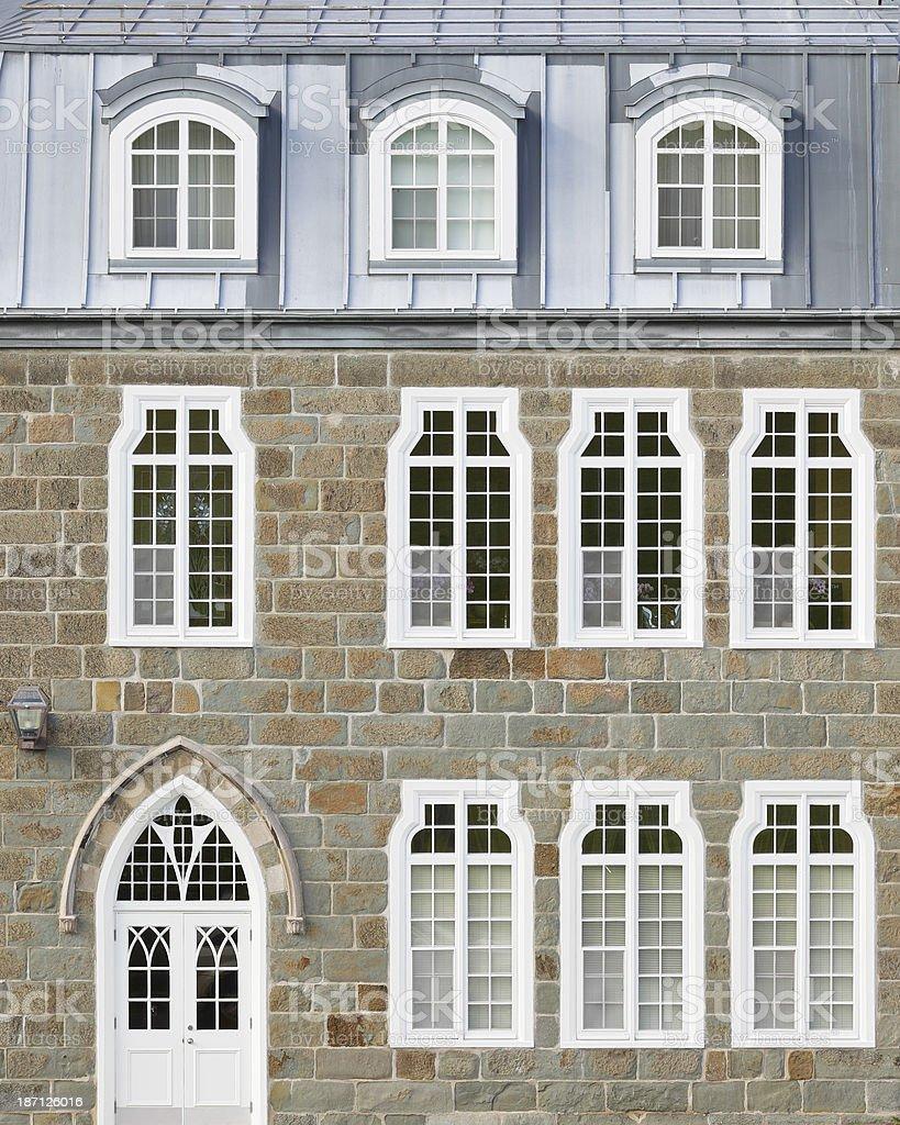 House Facade - Quebec royalty-free stock photo