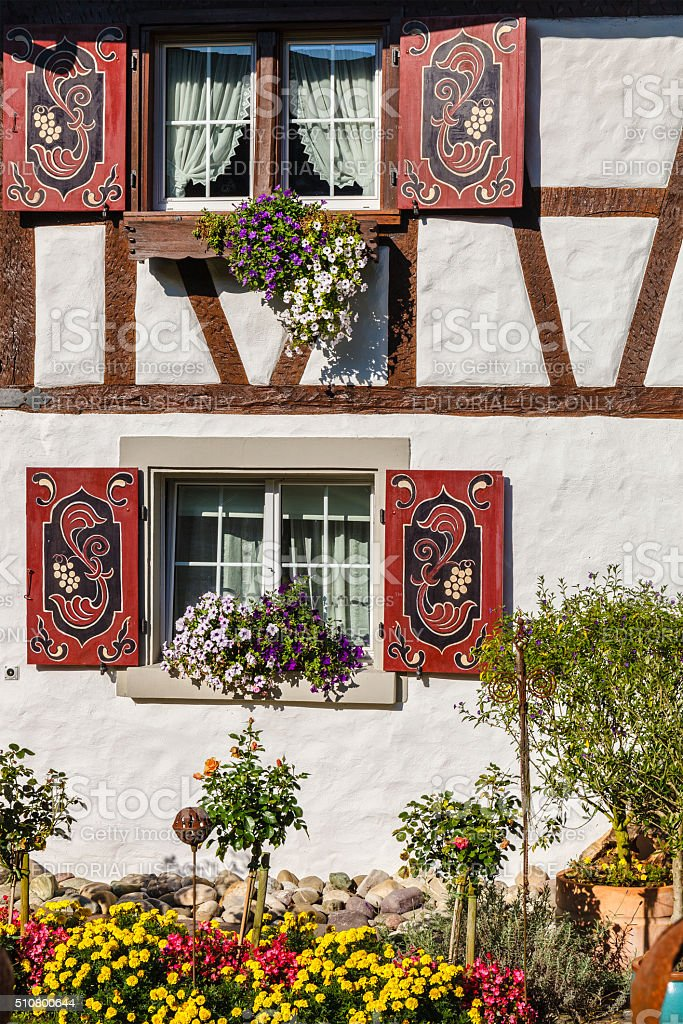 House Facade - Switzerland stock photo
