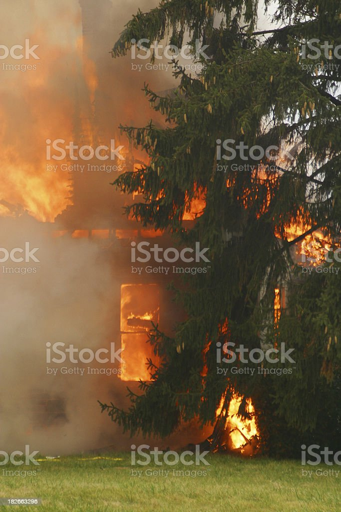 House Fire 11- Beavercreek, Dayton, Ohio. royalty-free stock photo