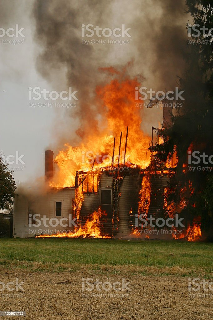 House Fire 15- Beavercreek, Dayton, Ohio. royalty-free stock photo