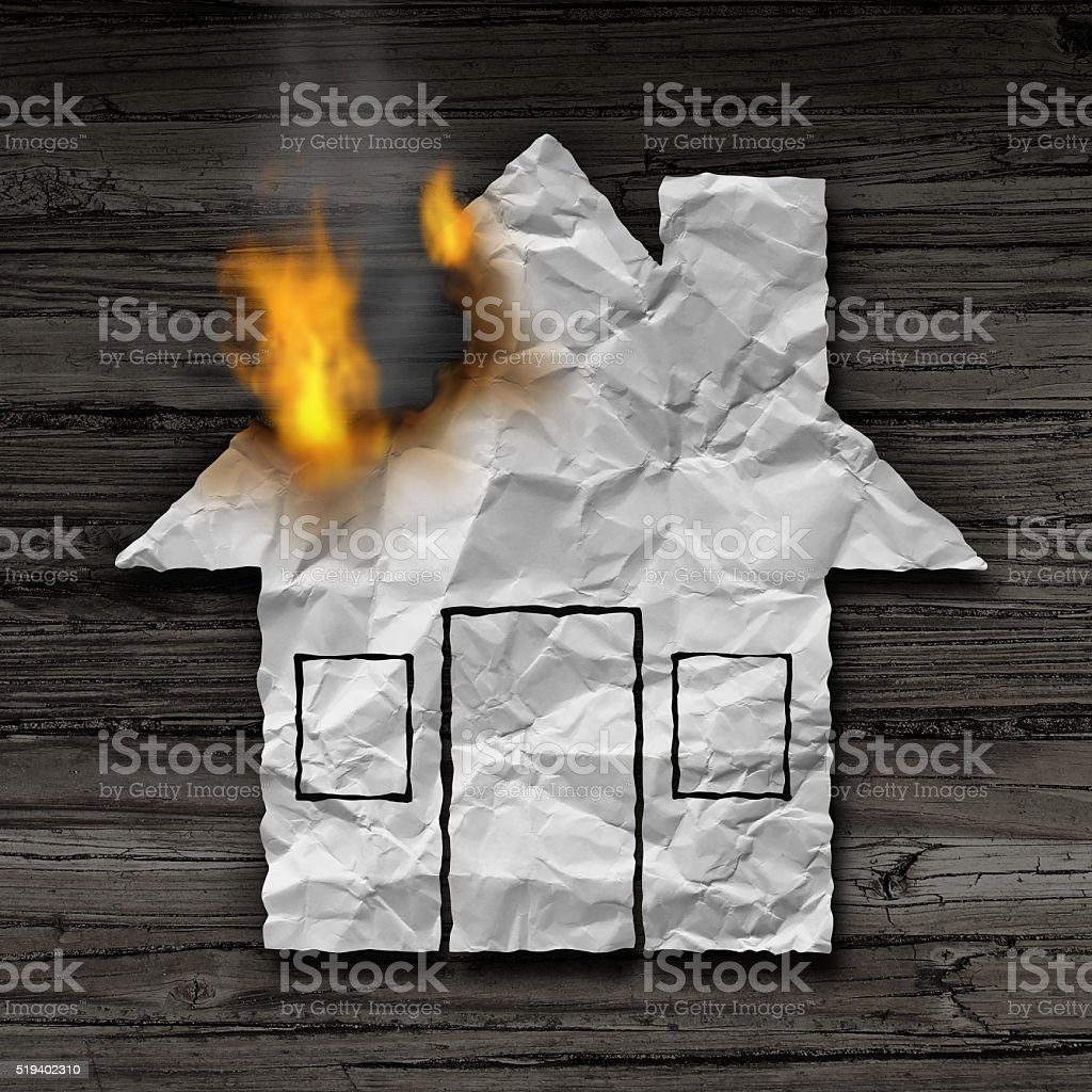 House Fire Concept stock photo