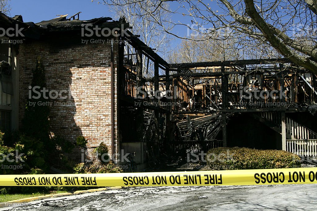 House Fire Damage royalty-free stock photo