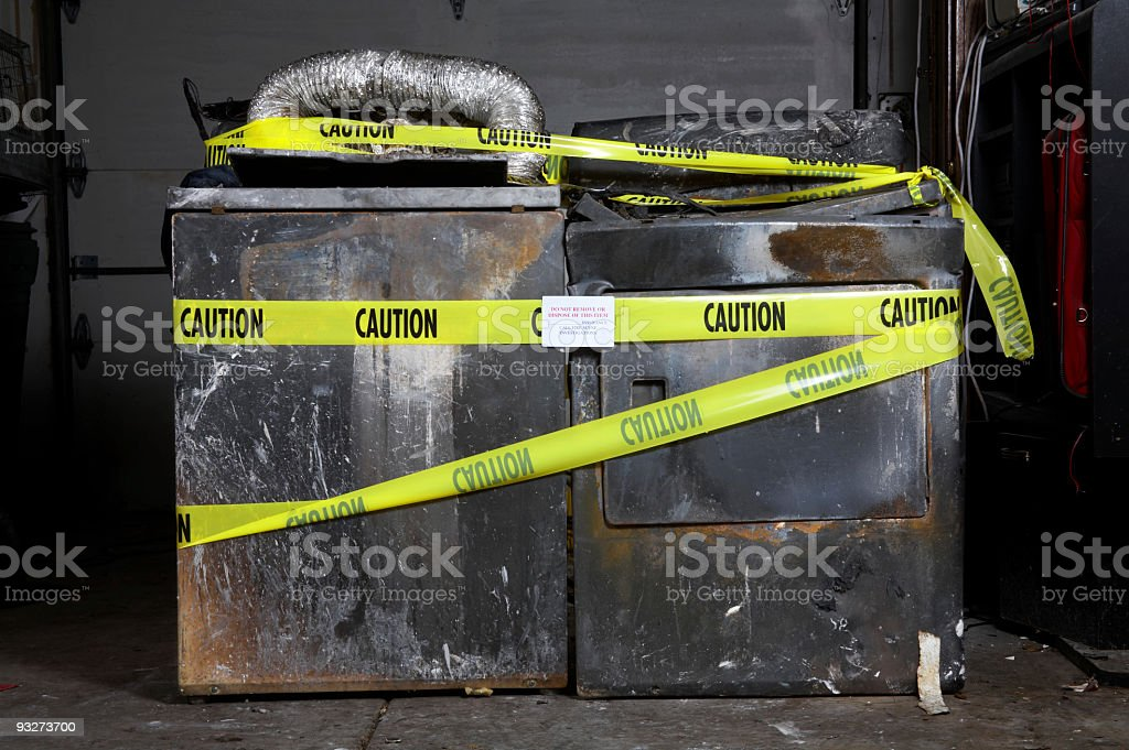 House Fire Series - Appliances stock photo