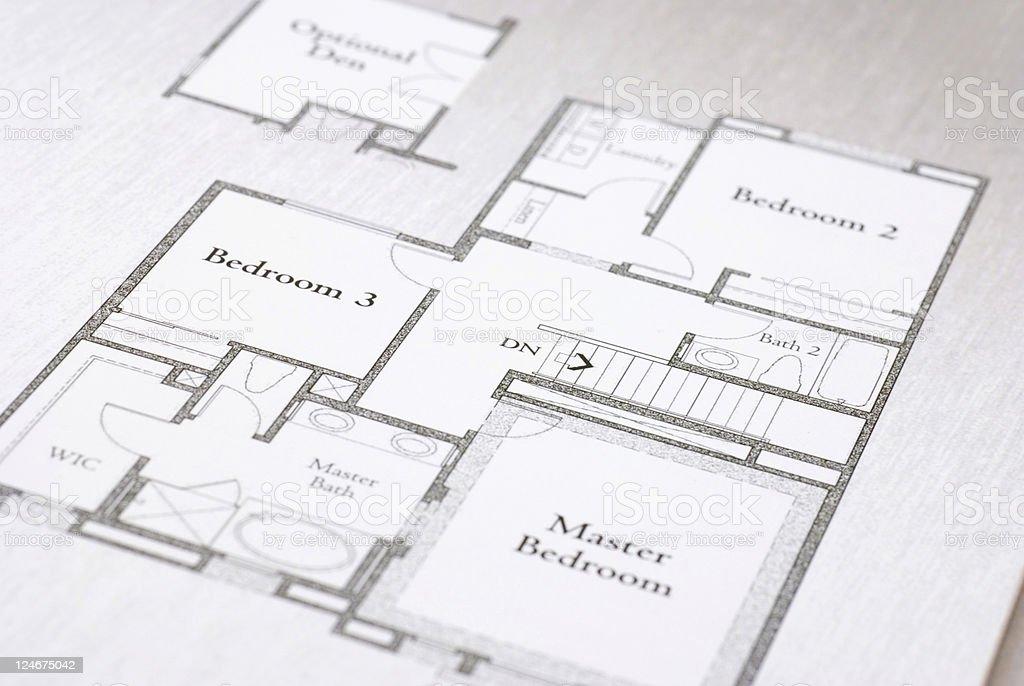 House Floorplan royalty-free stock photo