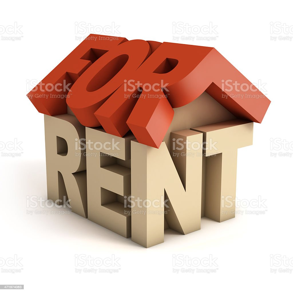 house for rent 3d icon stock photo