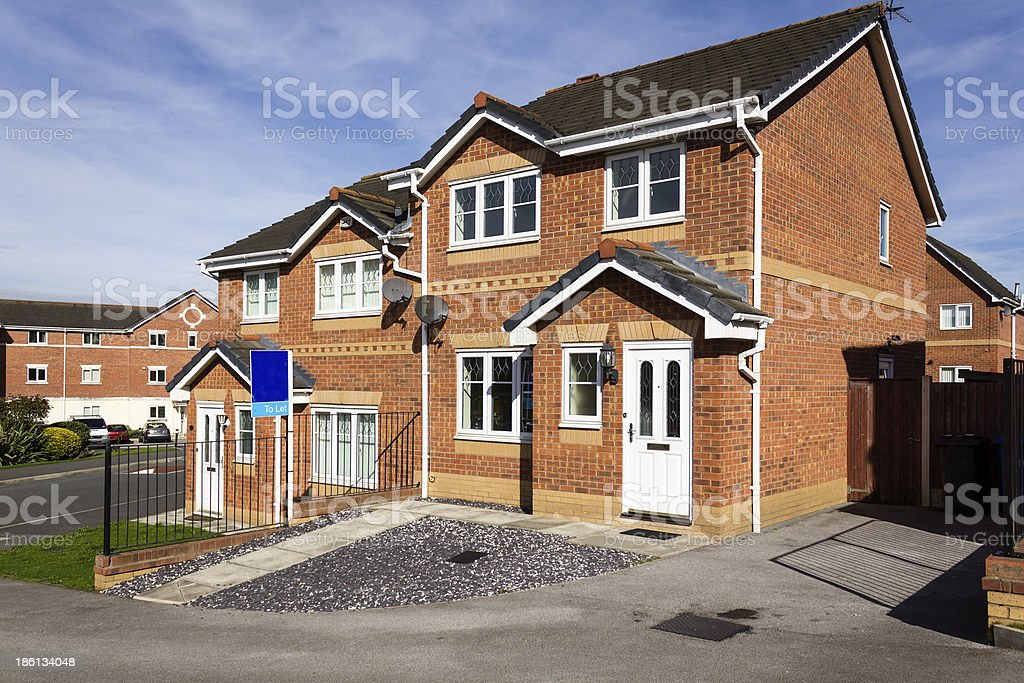 House For Rent, Cheshire stock photo