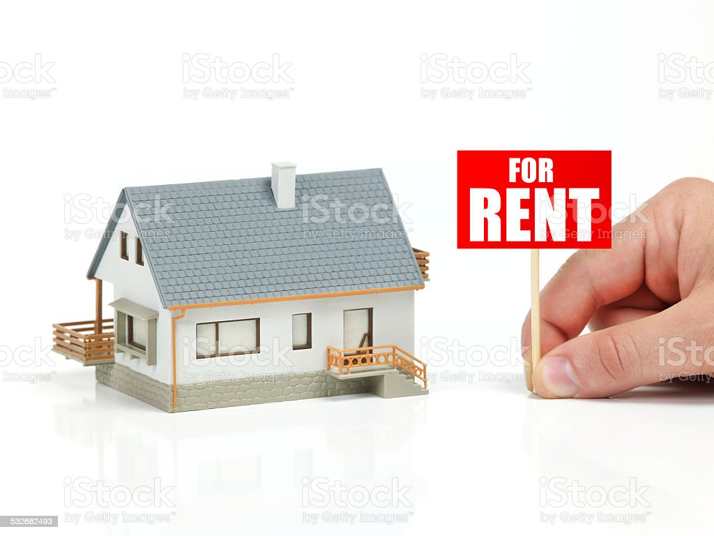 House for rent stock photo