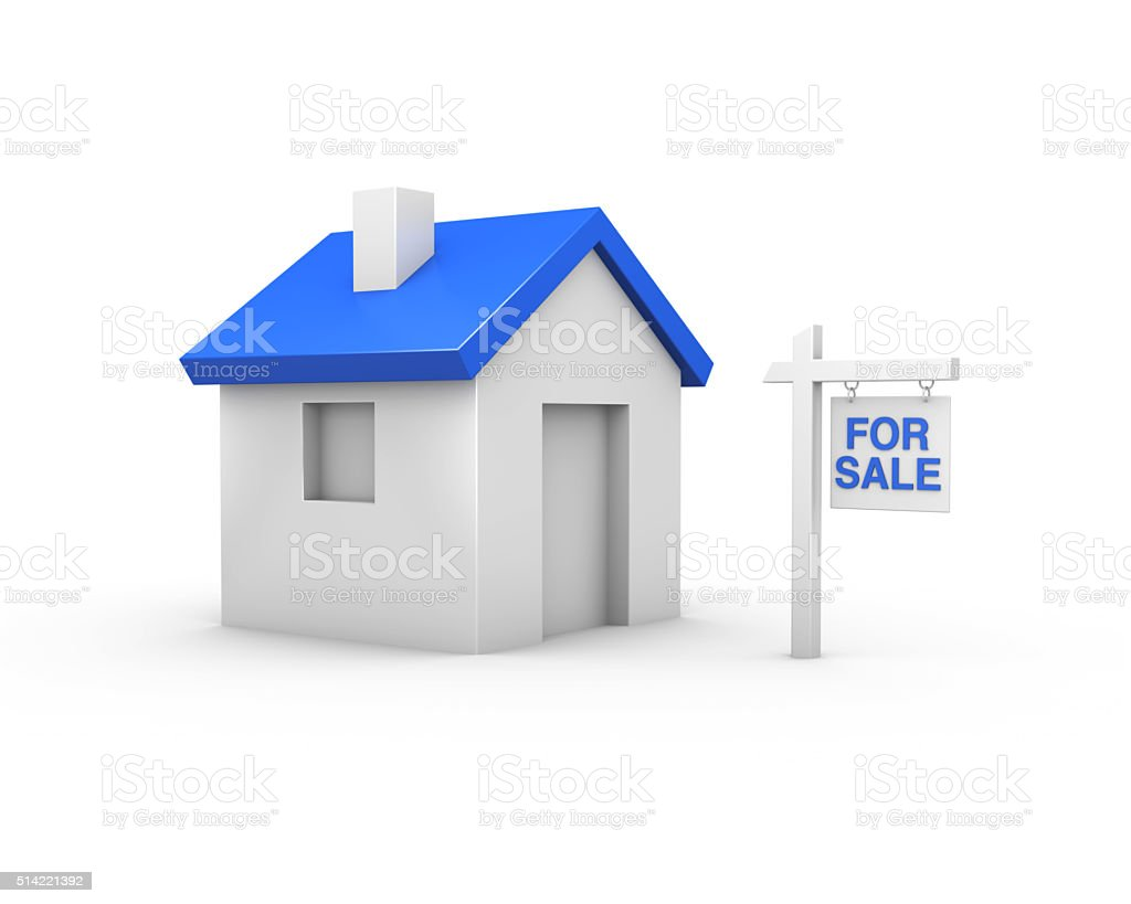 House For Sale - 3D stock photo
