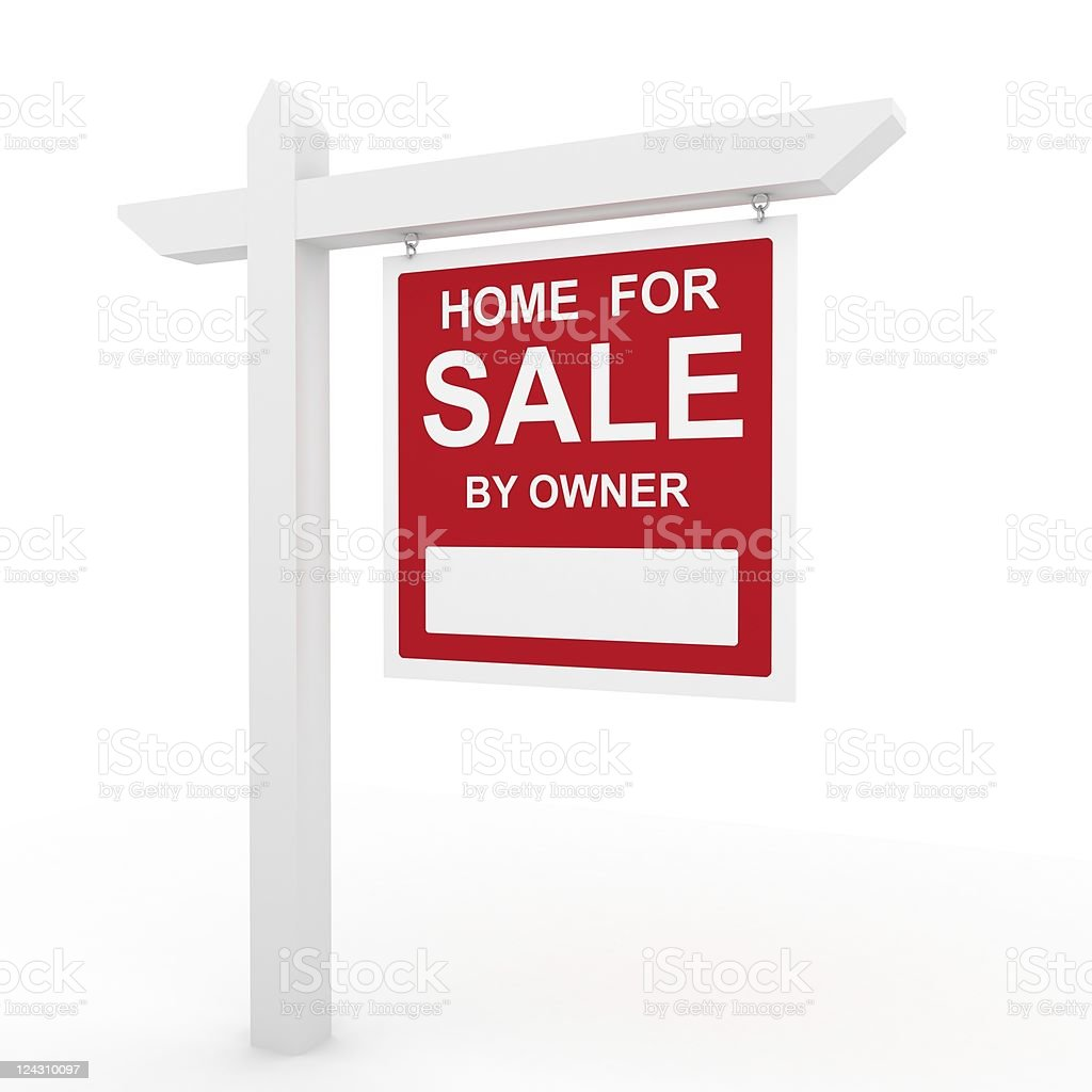 House for Sale Sign royalty-free stock photo