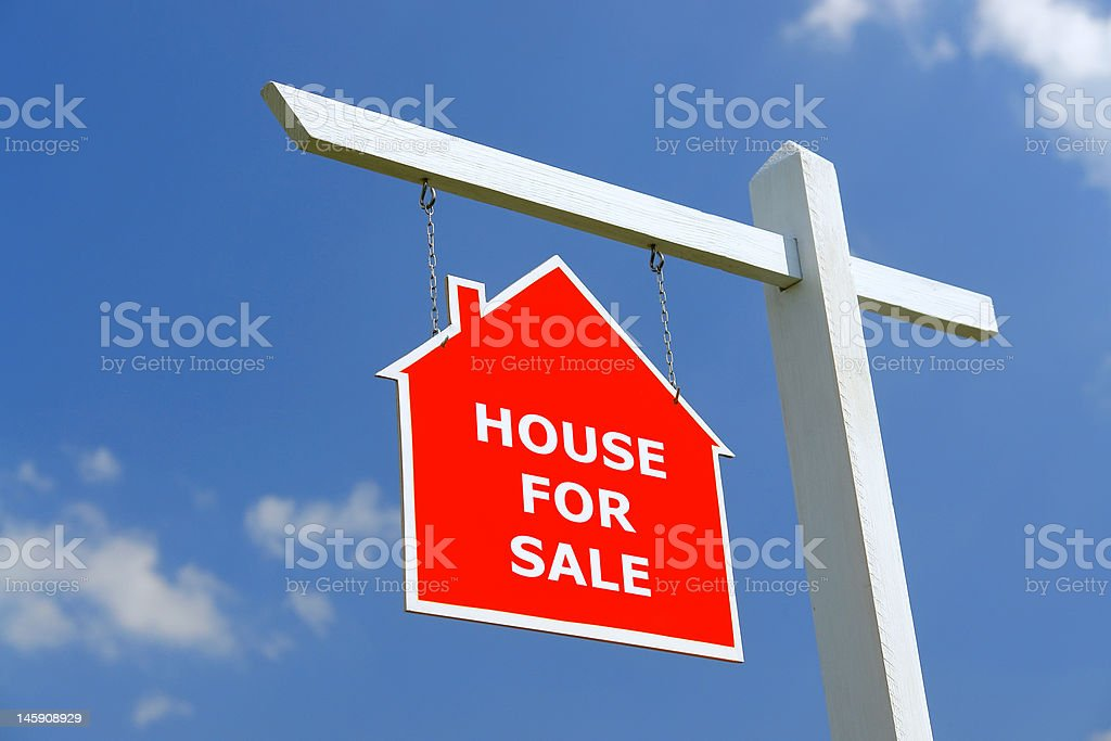 House for Sale signpost royalty-free stock photo