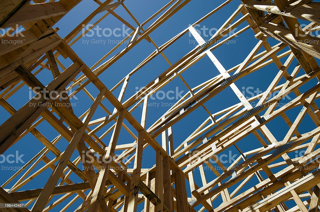 House Framing stock photo