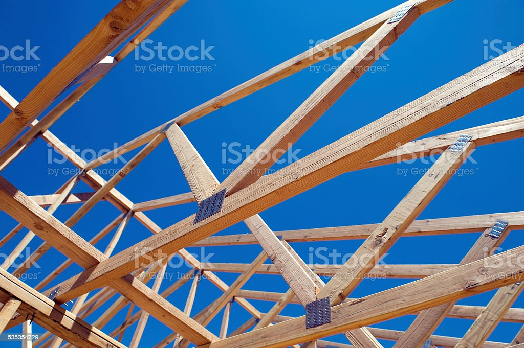 House Framing stock photo