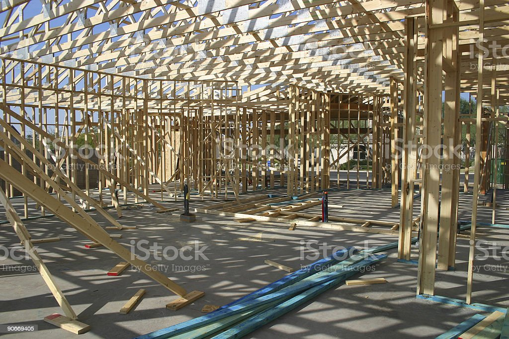 House framing royalty-free stock photo