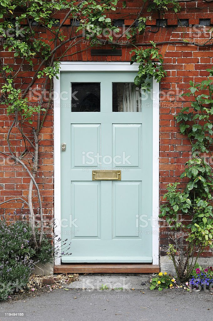 House Front Door stock photo