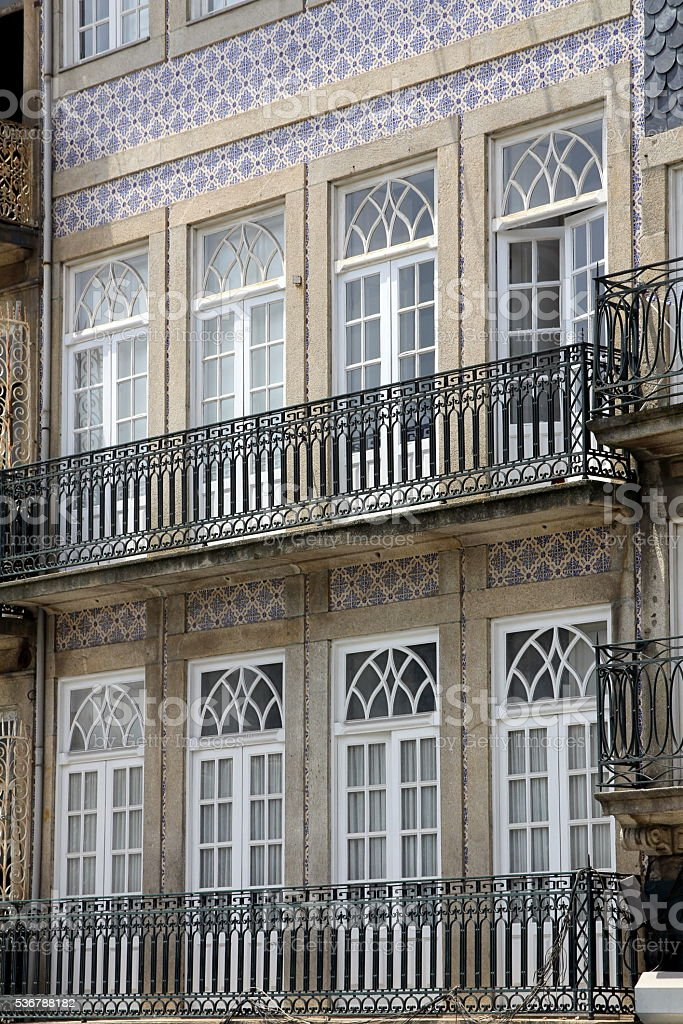House Front in Porto, Portugal stock photo