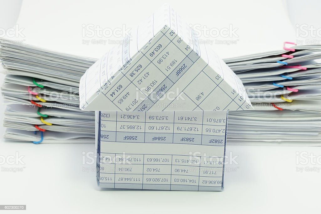 House have pile overload document of report royalty-free stock photo