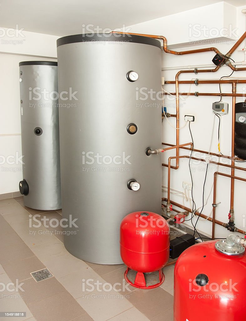 House Heating System stock photo