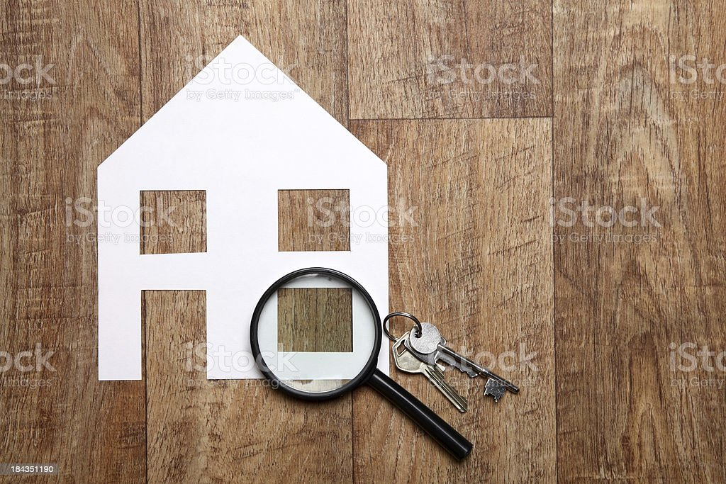House hunting royalty-free stock photo