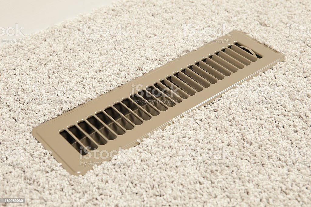 House HVAC Floor Vent Register royalty-free stock photo