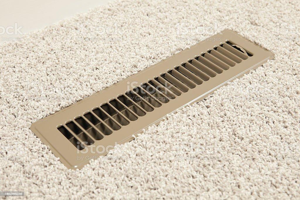 House HVAC Floor Vent Register stock photo