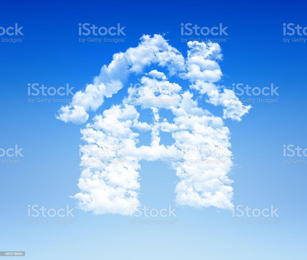 house icon cloud sky stock photo