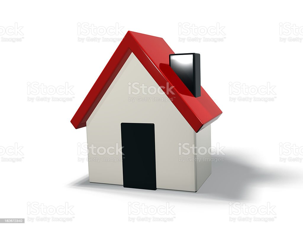 house icon in 3d royalty-free stock photo