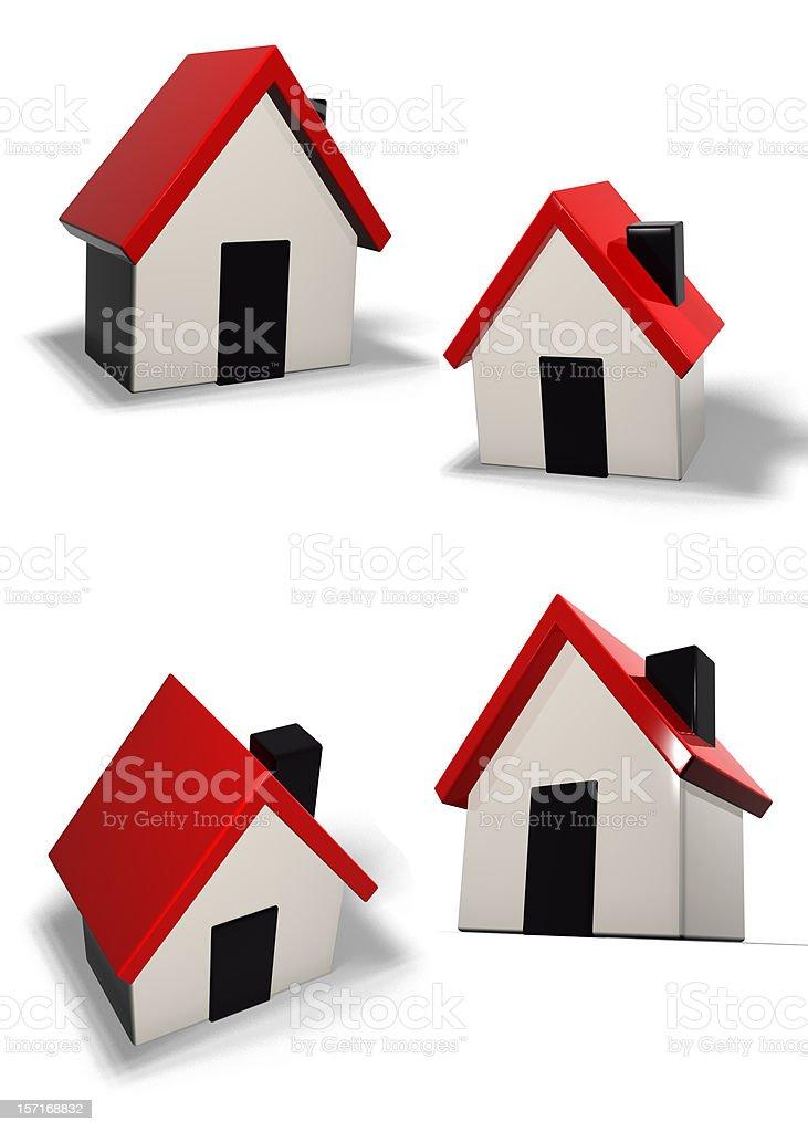 house icons royalty-free stock photo