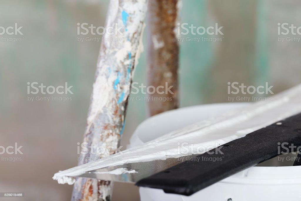 house improvement. stucco stock photo