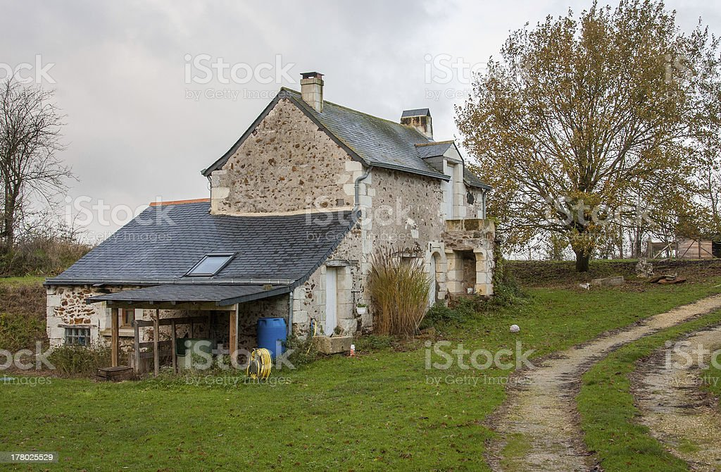 House in a farm stock photo