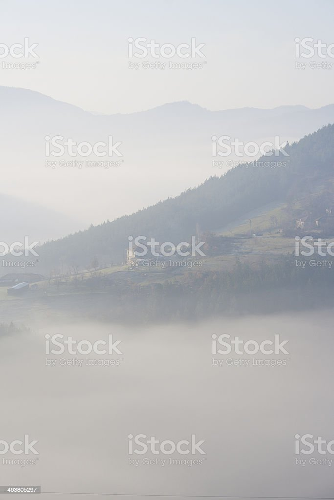 House in a Fog stock photo