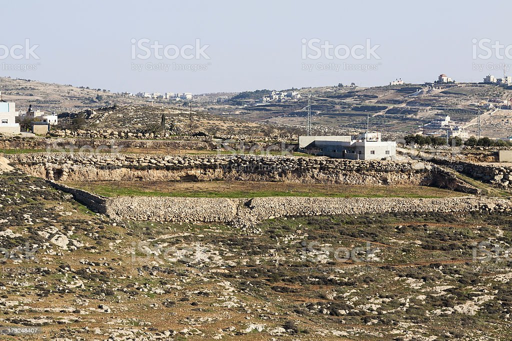 House in a Palestinian village stock photo