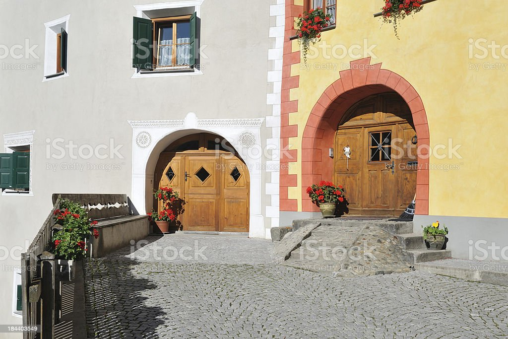 House in Ardez royalty-free stock photo