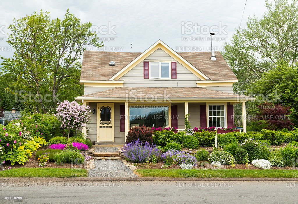 House in Baddeck, Nova Scotia stock photo