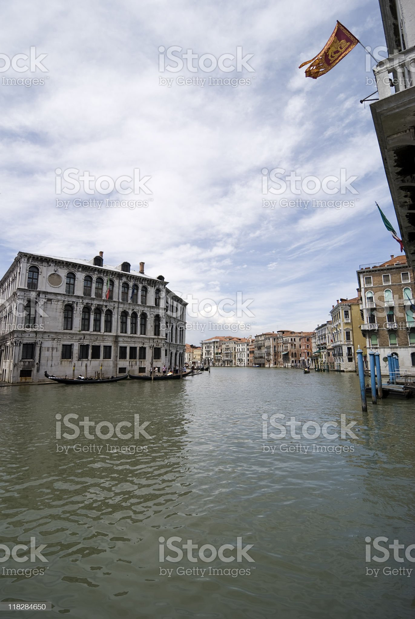 house in Canal Grande royalty-free stock photo