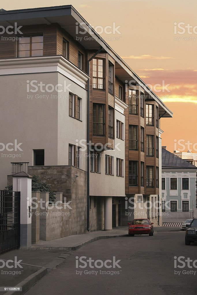 House in center of town royalty-free stock photo