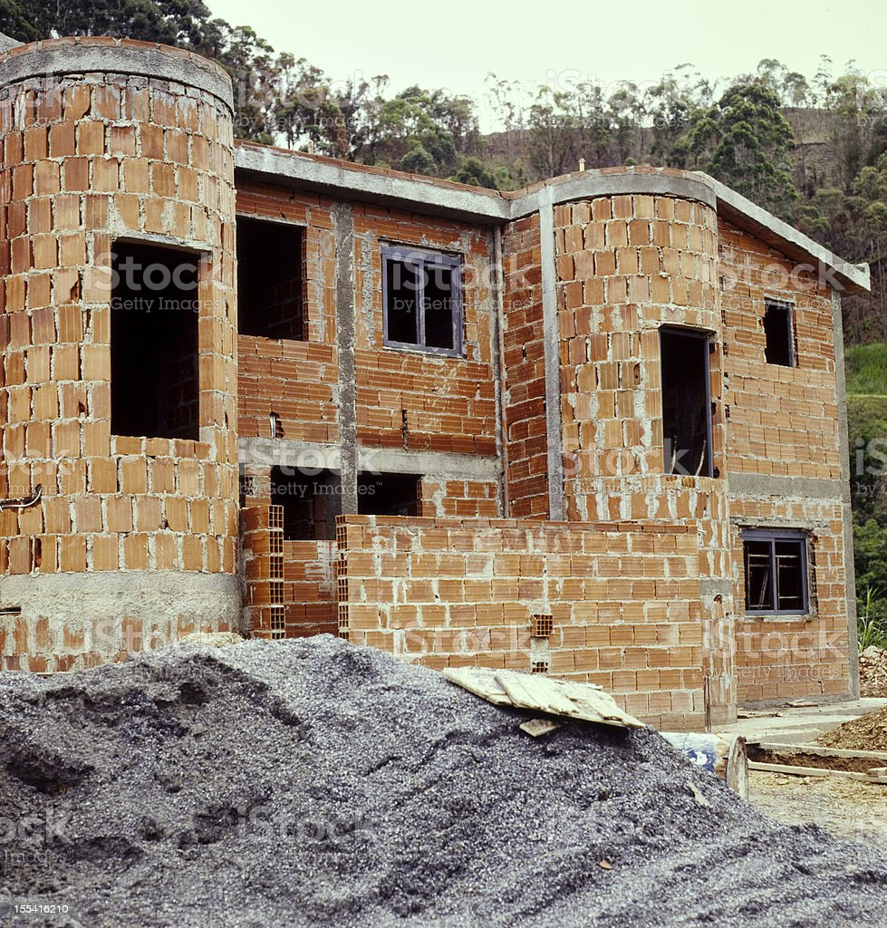 House in construction royalty-free stock photo