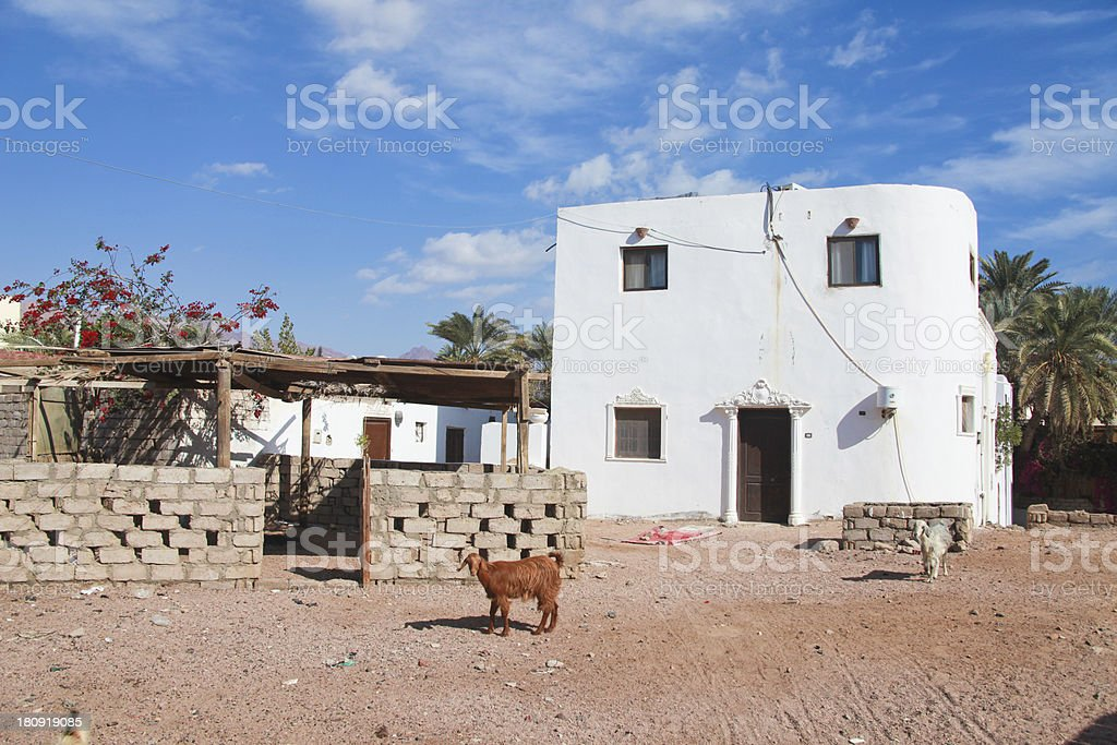 house in Dahab royalty-free stock photo