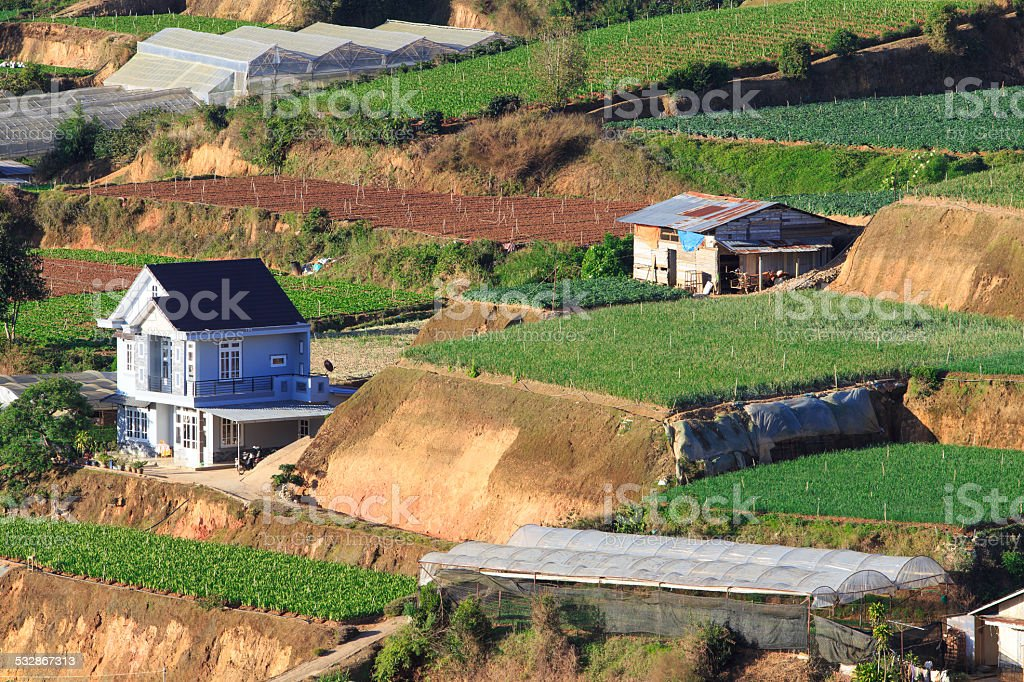 House in dalat city, Lam Dong province, Vietnam. royalty-free stock photo