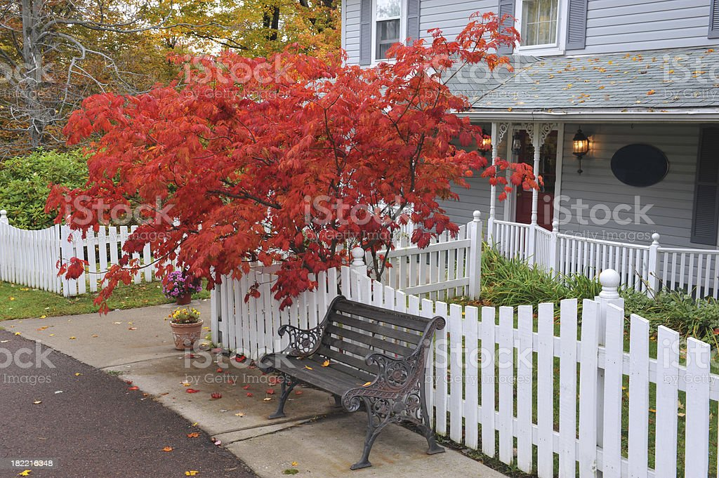 House in Fall royalty-free stock photo