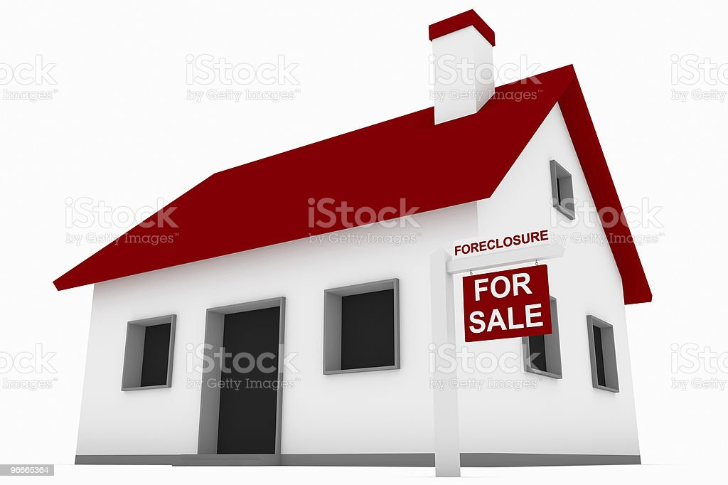 House in Foreclosure royalty-free stock photo