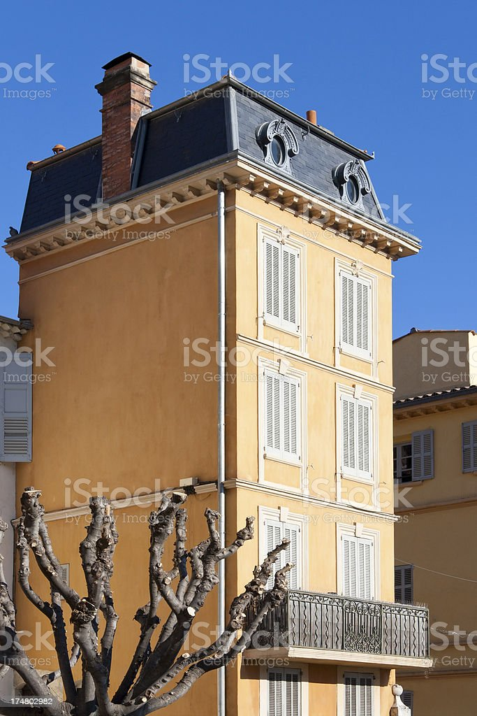 House in Grasse, France stock photo
