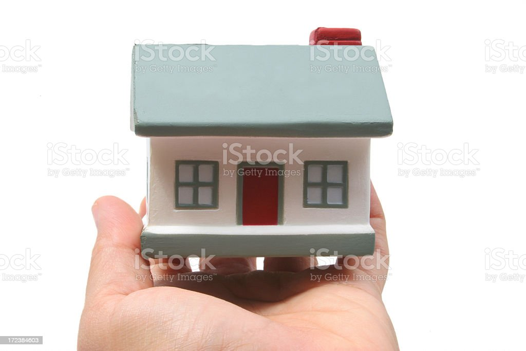House in hand royalty-free stock photo