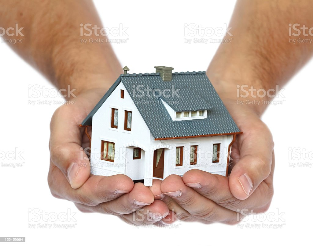 house in hands royalty-free stock photo