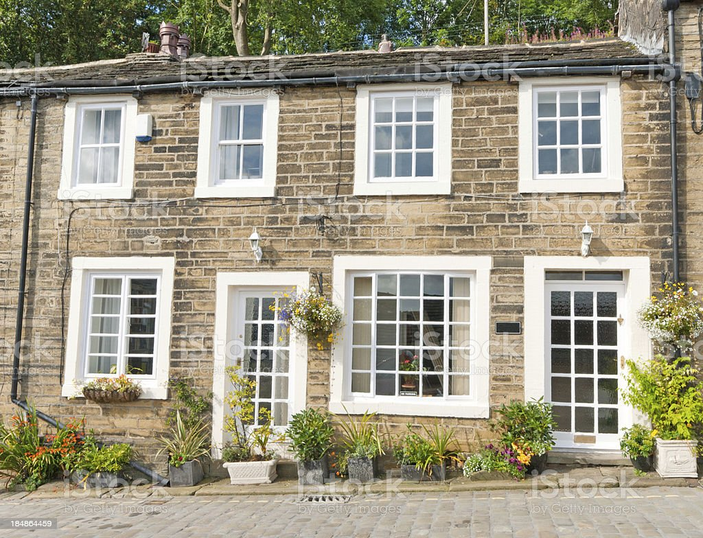 House in Haworth High Street stock photo